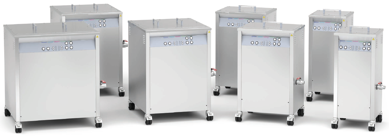 Floor-mounted ultrasonic devices